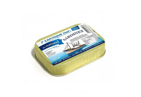 Sardines au naturel - Format 1/6 Capitaine Nat