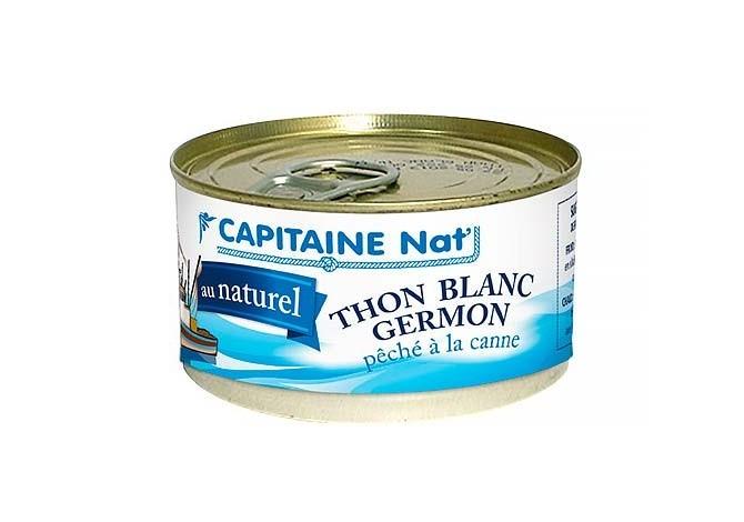 Thon blanc Germon au naturel - Format 1/6 - Capitaine Nat