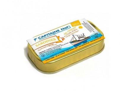 Sardines à l'huile d'olive bio et citron bio - Format 1/10 - Capitaine Nat