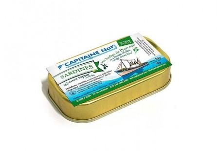 Sardines à l'huile d'olive vierge extra bio et aux herbes bio - Format 1/10 - Capitaine Nat