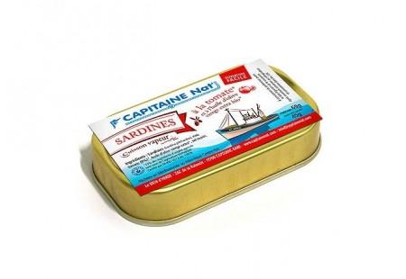Sardines à l'huile d'olive vierge extra bio et tomates bio - Format 1/10 - Capitaine Nat