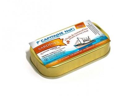 Sardines à l'huile de tournesol bio - Format 1/10 - Capitaine Nat
