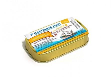 Sardines à l'huile de tournesol bio et citron bio - Format 1/6 - Capitaine Nat
