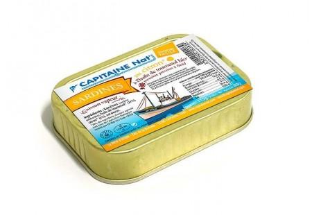 Sardines à l'huile de tournesol bio et citron bio - Format 1/10 - Capitaine Nat