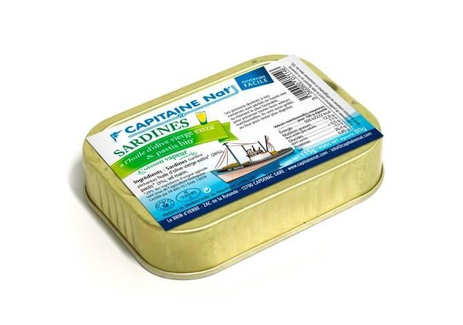 Sardines huile d'olive extra vierge et pastis bio* - 1/6