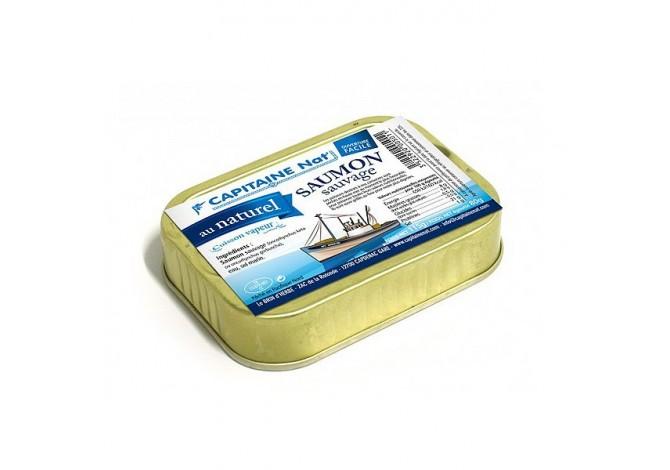 Saumon sauvage au naturel - Format 1/6 - Capitaine Nat