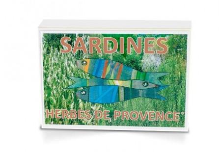 Boite collector - Sardines à l'huile d'olive vierge extra bio et aux herbes de Provence bio - Format 1/6 - Capitaine Nat
