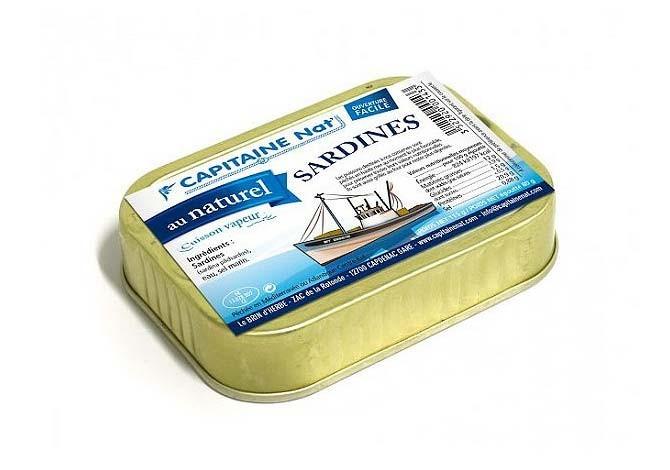 Sardines au naturel - Format 1/6 Capitaine Nat