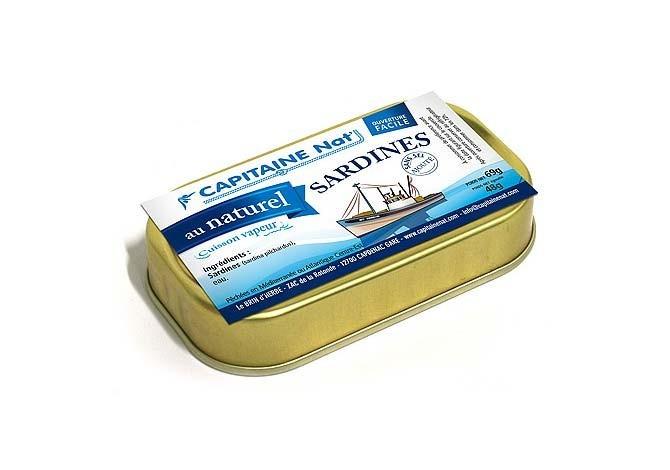 Sardines au naturel - Format 1/10 - Sans sel - Capitaine Nat