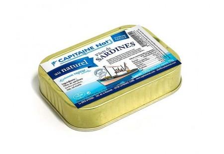 Files de sardines au naturel - Format 1/7 - Capitaine Nat