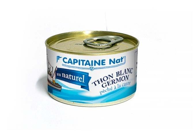 Thon blanc Germon au naturel - Format 1/4 - Capitaine Nat
