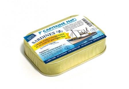 Sardines au miel de Garrigue bio - Format 1/6 - Capitaine Nat