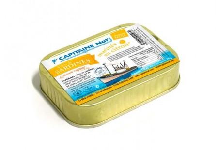 Filets de sardines mariné au jus de citron bio - Format 1/7 - Capitaine Nat