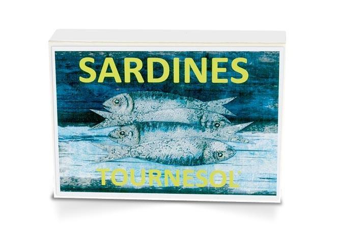 Boite collector - Sardines à l'huile de tournesol bio et citron bio - Format 1/6 - Capitaine Nat