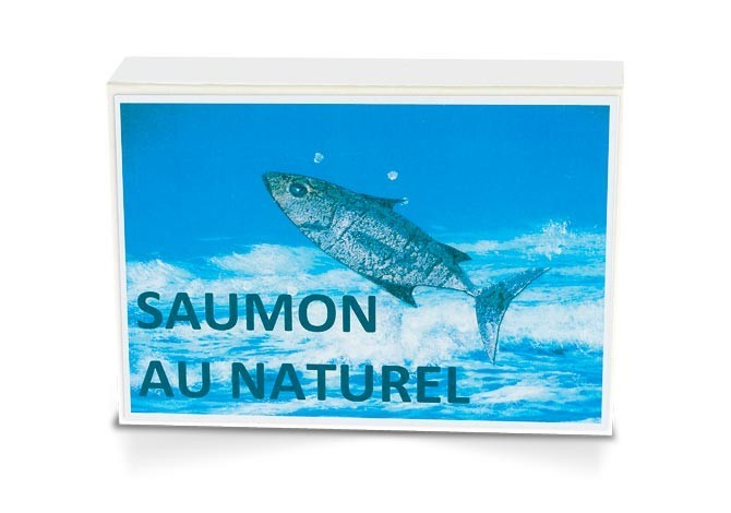 Boite collector - Saumon sauvage au naturel - Format 1/6 - Capitaine Nat