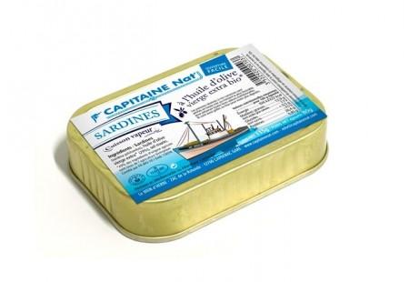 Sardines à l'huile d'olive vierge extra bio - 1/6